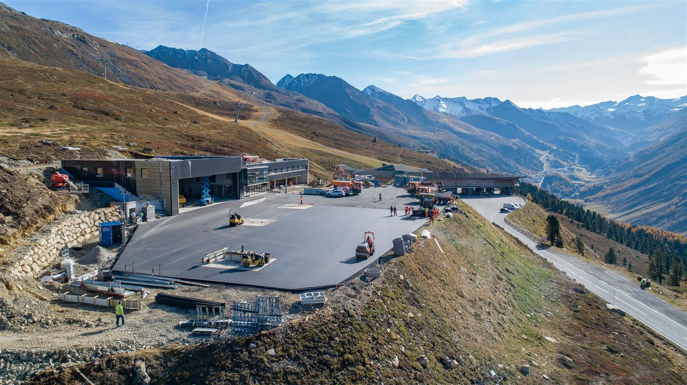Heliport Hochgurgl - Road and bridge construction