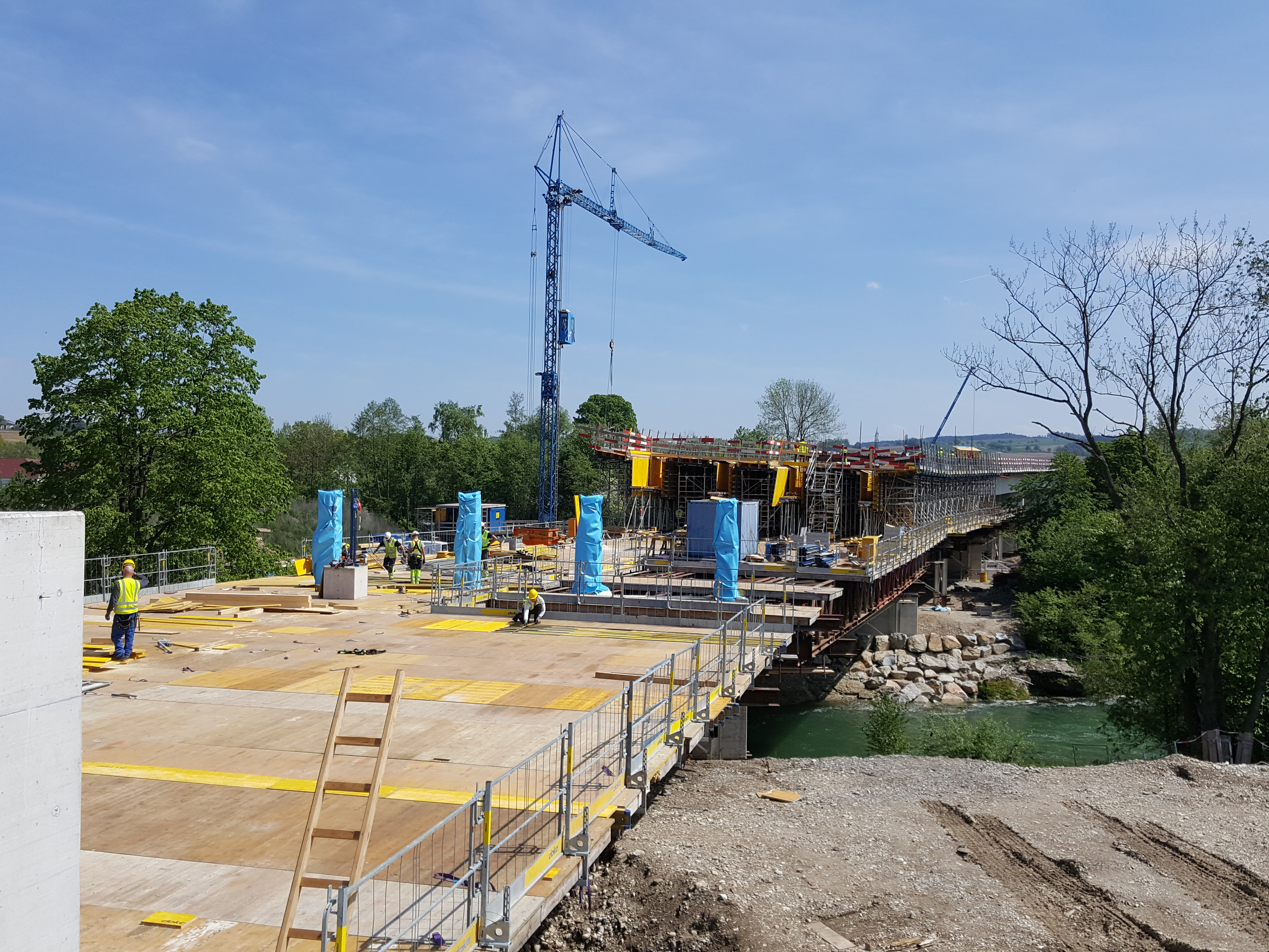 Brückenbau, Wieselburg - Road and bridge construction