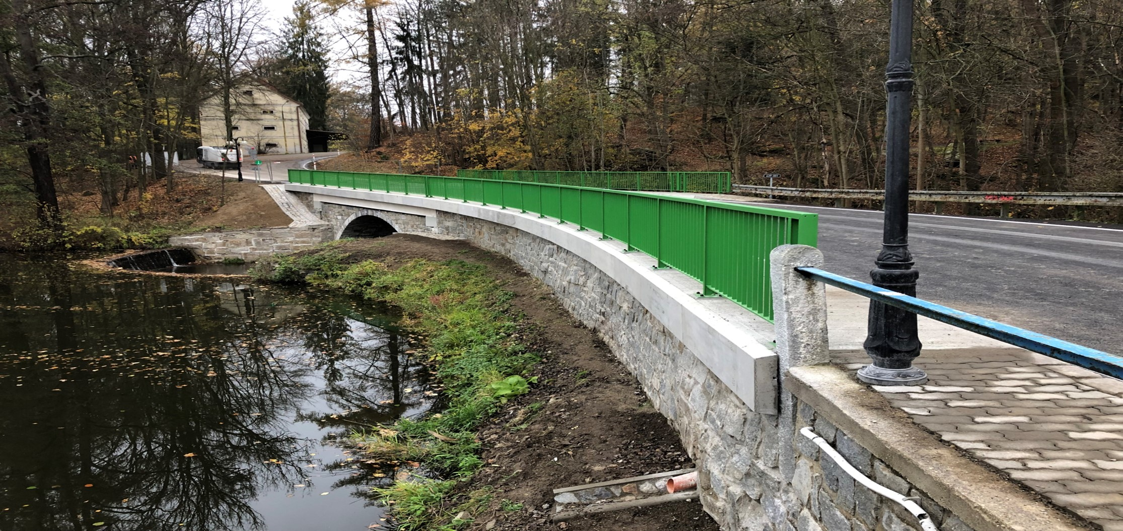 Most, Kamenice nad Lipou - Road and bridge construction