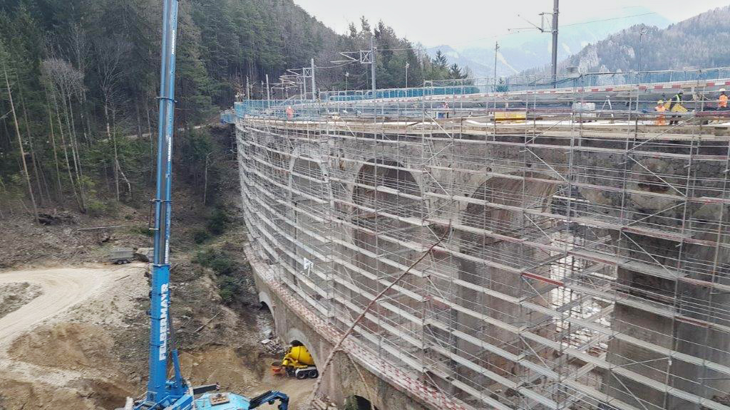 Brückenbau, Gamperl-Viadukt, Semmering - Road and bridge construction